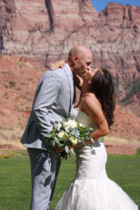Just outside Zion National Park Wedding at the Springdale Canyon Community Center
