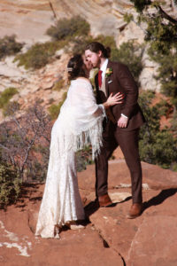Canyon Overlook Post Ceremony Wedding Photography at Zion National Park